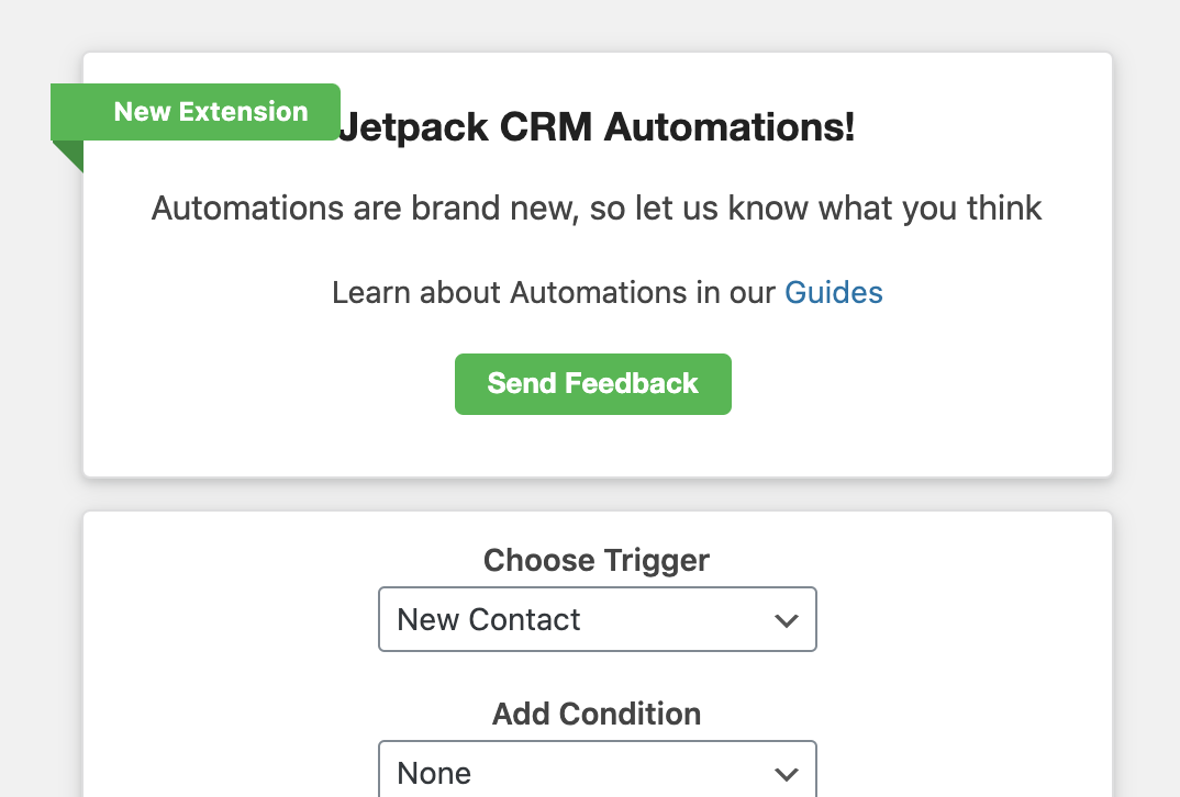 Jetpack CRM Automations