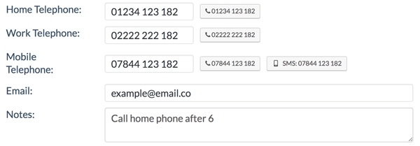 Call different phones with click2call in Jetpack CRM for WordPress