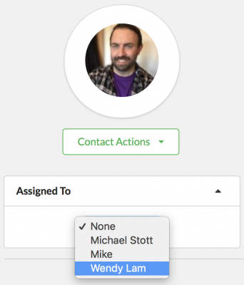Assign contacts to a CRM member