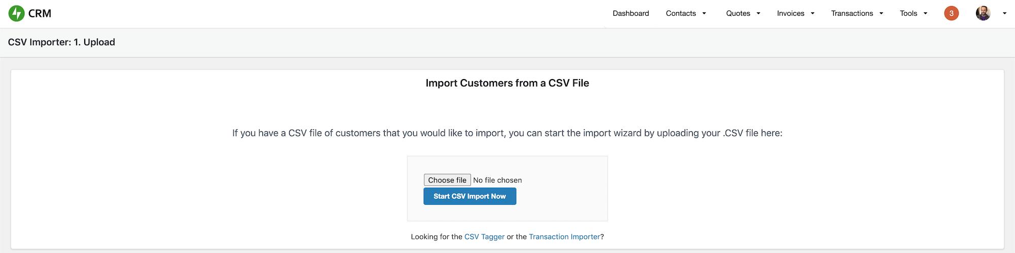CSV Importer