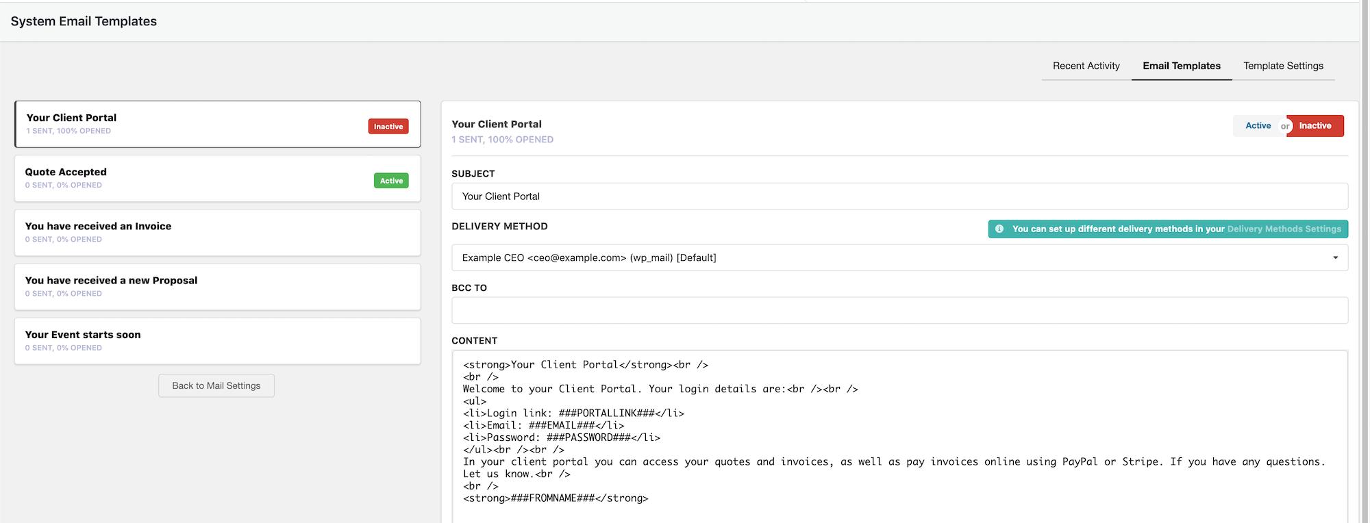 System Emails