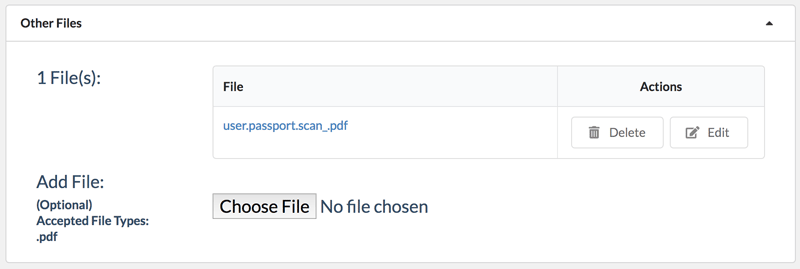 File attached to contact in Jetpack CRM