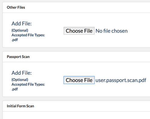 Adding a file to a contact or company in Jetpack