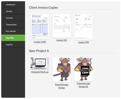 PDF file previews for client portal files