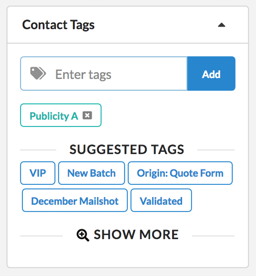 Easily add or remove tags from contacts in Jetpack CRM