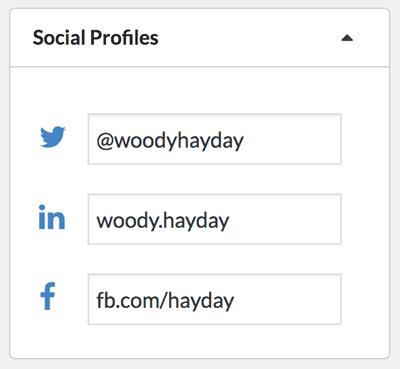 Edit social profile urls against a crm contact