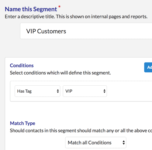 Tags in segments in Jetpack CRM