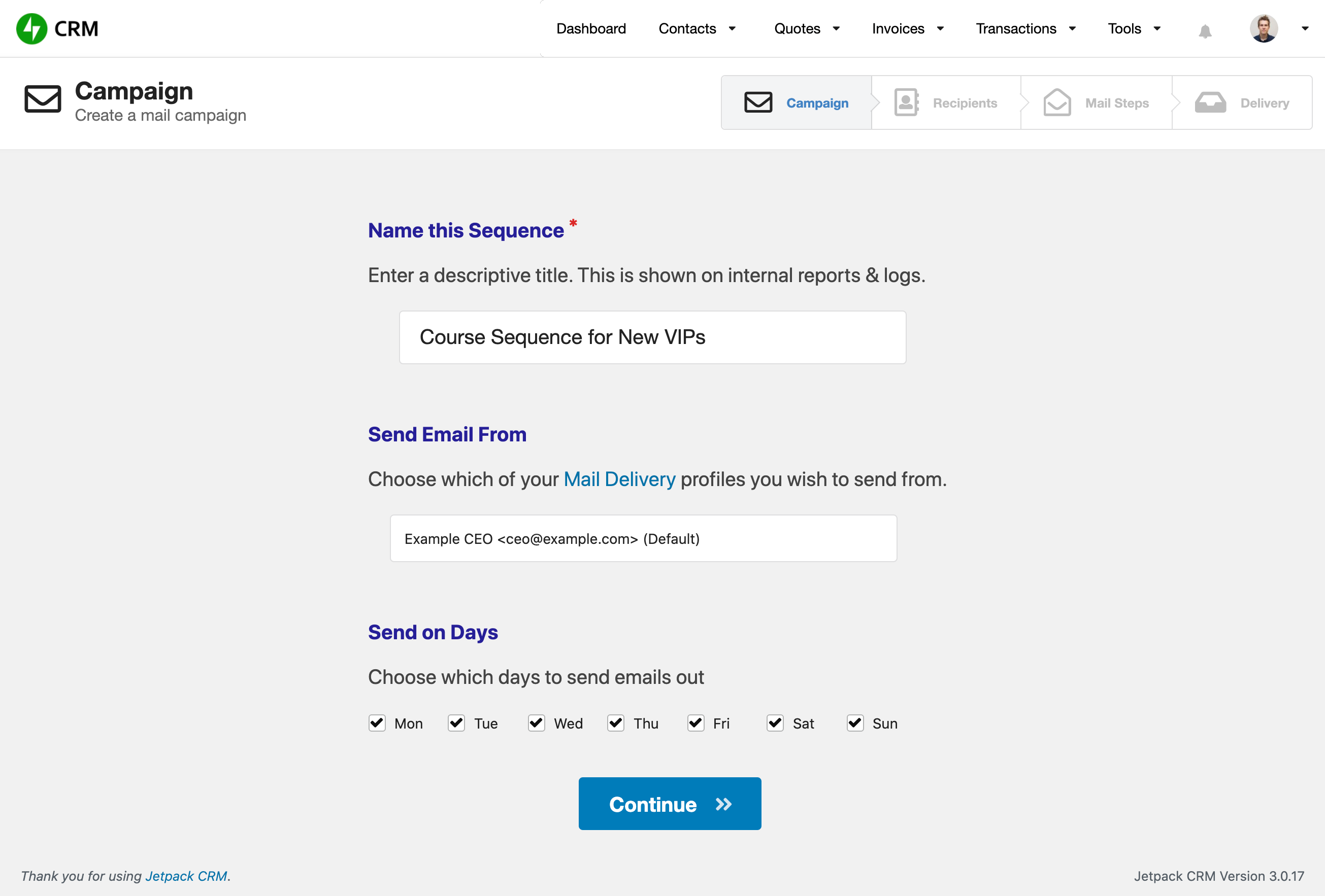 Create an email sequence in WordPress